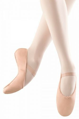 Bloch Arise Leather Ballet Shoes Full Sole Pink Pre Sewn Elastics S0209